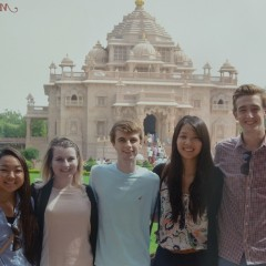 The SEWA interns at the private temple Akshardam