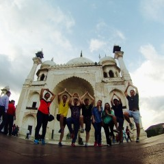RBI interns at the Mini Taj Mahal