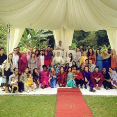 Malaysian wedding party